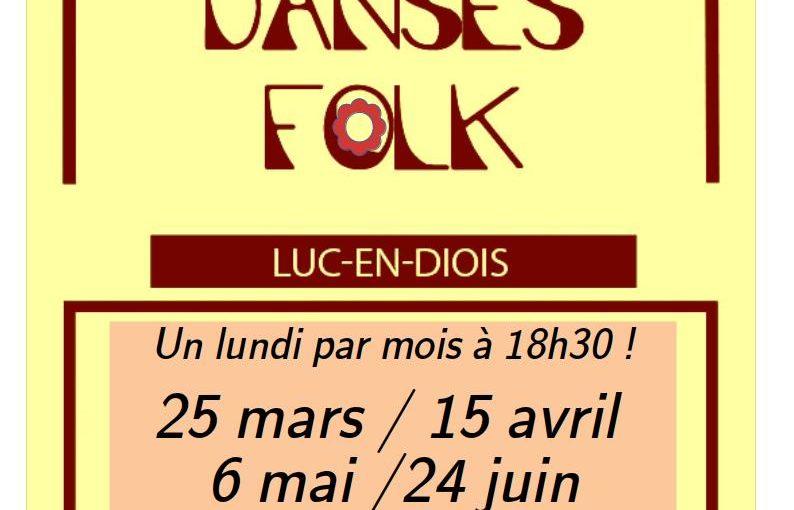 Atelier danses Folk à Luc en Diois, 1 lundi par mois